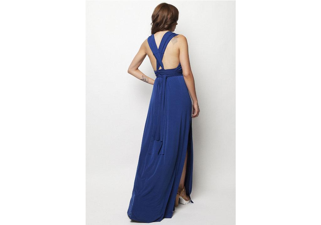 6829a500e4fd Maxi μπλε φόρεμα – ISO - eshop με νεανικά γυναικεία ρούχα