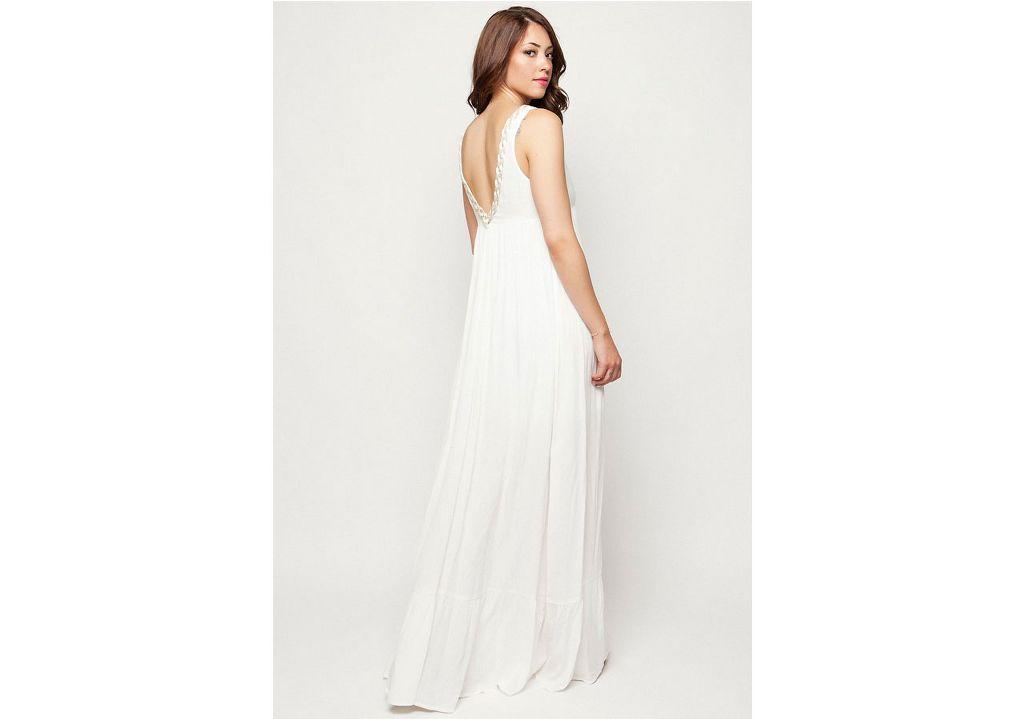 552d78575d6d Αμάνικο φόρεμα εκρού – ISO - eshop με νεανικά γυναικεία ρούχα
