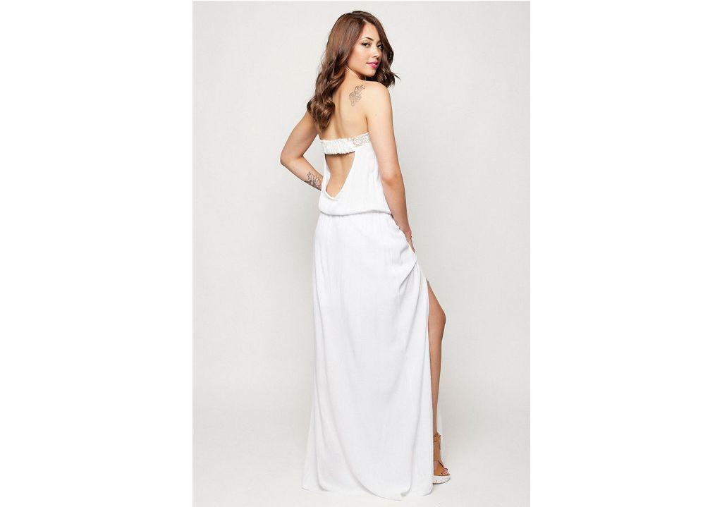 d167f218b6f2 Στραπλες φόρεμα εκρού – ISO - eshop με νεανικά γυναικεία ρούχα