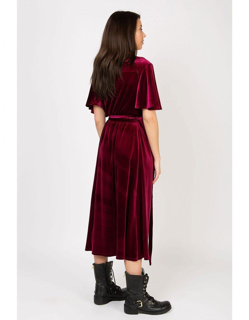 1ecd460fd643 Φόρεμα βελούδινο κρουαζέ – ISO - eshop με νεανικά γυναικεία ρούχα