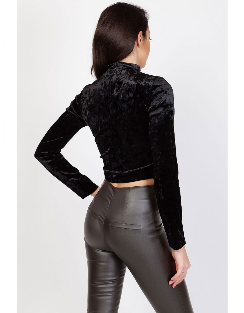 39a4830c6dc2 Crop top βελούδινο – ISO - eshop με νεανικά γυναικεία ρούχα