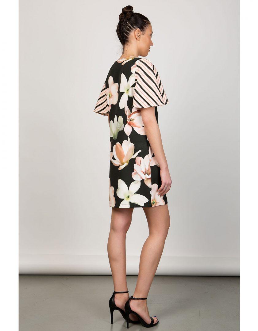14f3df743ff2 Μίνι φλοράλ φόρεμα – ISO - eshop με νεανικά γυναικεία ρούχα