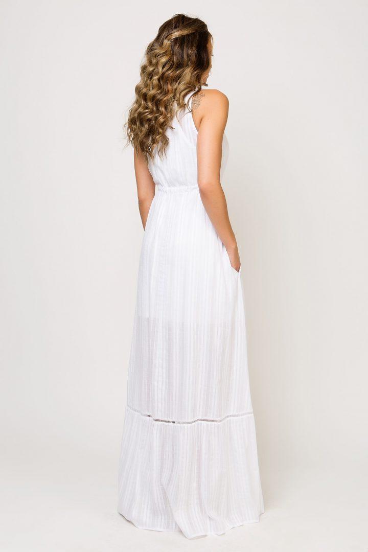 4bad49f999f2 Maxi λευκό φόρεμα – ISO - eshop με νεανικά γυναικεία ρούχα